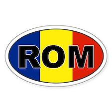 Romanian (ROM) Flag Oval Decal