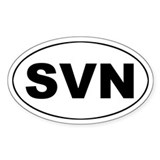 Slovenia (SVN) Oval Decal