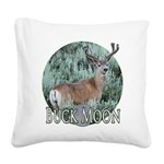 buck moon Square Canvas Pillow