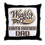 Dameranian Dog Dad Throw Pillow