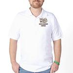 Dameranian Dog Dad Golf Shirt