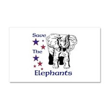 Elephant Rescue In Thailand Car Magnet 20 x 12