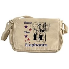 Elephant Rescue In Thailand Messenger Bag
