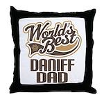 Daniff Dog Dad Throw Pillow