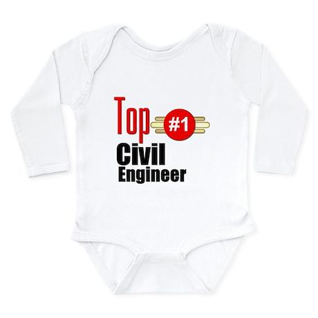 Top Civil Engineer Long Sleeve Infant Bodysuit