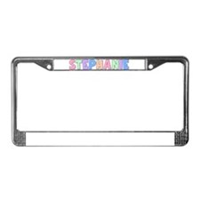 Stephanie Rainbow Pastel License Plate Frame