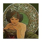 Cool Alphonse mucha Tile Coaster