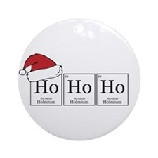Ho Ho Ho [Chemical Elements] Ornament (Round)