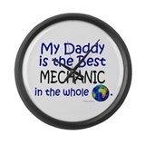 Cute Worlds greatest mechanic Large Wall Clock