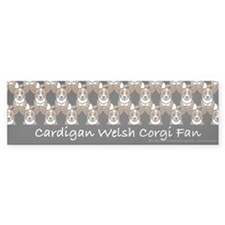 Cardigan Corgi Fan Bumper Bumper Sticker