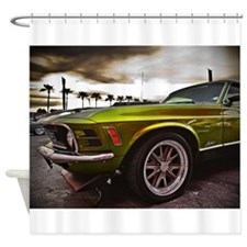 70 Mustang Mach 1 Shower Curtain