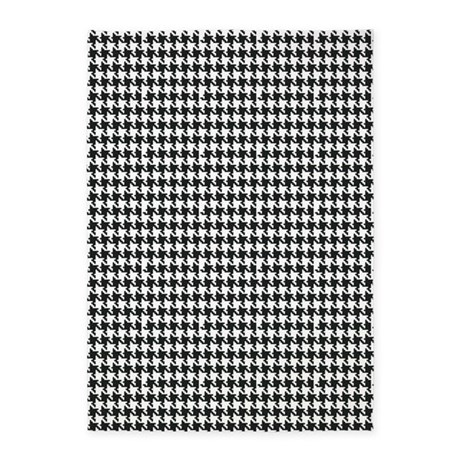 Black And White Houndstooth 5 39 X7 39 Area Rug By Organicpixels