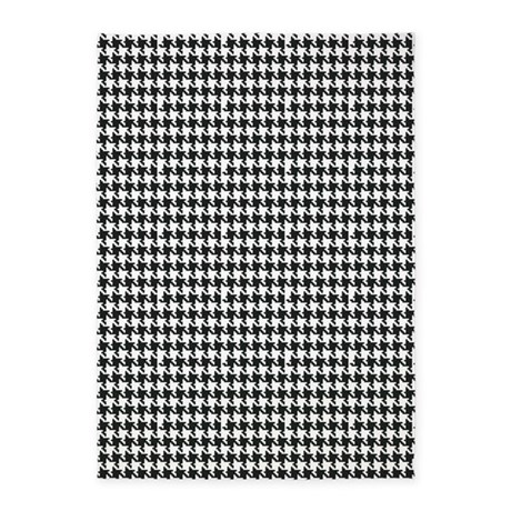 black and white houndstooth 5 39 x7 39 area rug by organicpixels. Black Bedroom Furniture Sets. Home Design Ideas