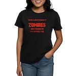 Zombies are chasing us! Women's Dark T-Shirt