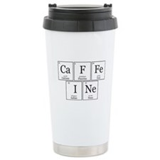 CaFFeINe [Chemical Elements] Ceramic Travel Mug