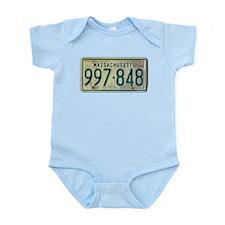 Massachusetts license plate Infant Bodysuit