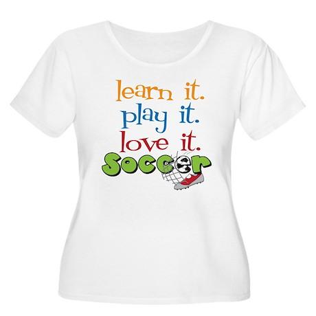Learn It Women's Plus Size Scoop Neck T-Shirt