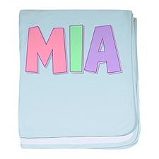 Mia Rainbow Pastel baby blanket