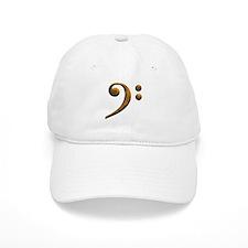 Gold bass clef Baseball Cap