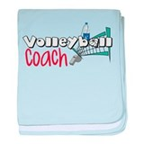 Volleyball Coach baby blanket
