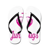 I Love/Heart June Bugs Flip Flops