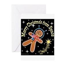 Gingerbread_Spaceman Greeting Cards (Pk of 10)