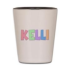 Kelli Rainbow Pastel Shot Glass
