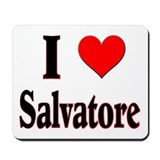 &quot;I HEART SALVATORE&quot; Mouse Pad