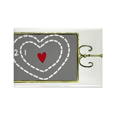 Heart Was Two Sizes Too Small Rectangle Magnet
