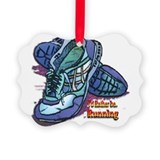 Cute Running Picture Ornament