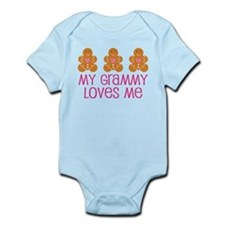 Grammy Loves Me Gingerbread man Infant Bodysuit