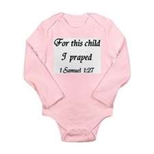 For This Child I Prayed, 1 Samuel, Body Suit