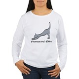 Downward Kitty Long Sleeve T-Shirt