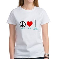 Peace Love Bass Clarinet T-Shirt