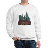 Philly Skyline Newwave Chocolate Sweatshirt