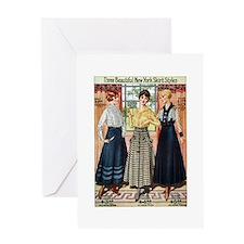 1916 New York Skirts Greeting Card