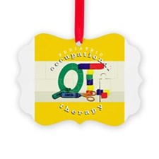 funny pediatric occupational therapy ornament
