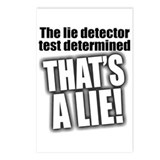 Lie Detector Test Postcards (8-Pack)