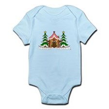 Cute Gingerbread house for Christmas Onesie