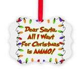Cool Military christmas Picture Ornament