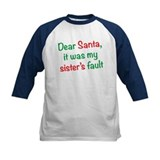 Dear Santa, it was my sister's fault Baseball Jers