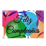 Feliz Cumpleanos Birthday Postcards (Package of 8)