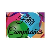 Feliz Cumpleanos Rectangle Magnet (100 pack)