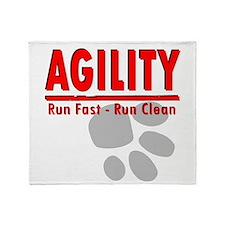 Agility Run Fast Throw Blanket