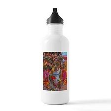 pitbull christmas card.jpg Water Bottle