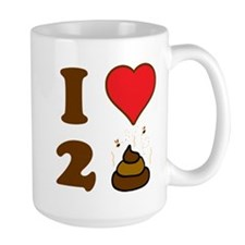 i love to poo baby Mug