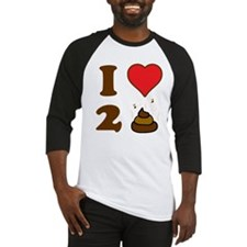 i love to poo baby Baseball Jersey