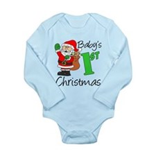 Babys 1st Christmas Long Sleeve Infant Bodysuit