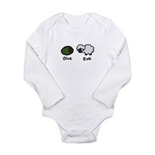 Olive Ewe Long Sleeve Infant Bodysuit