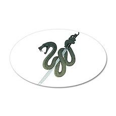 Katana Snake 35x21 Oval Wall Decal